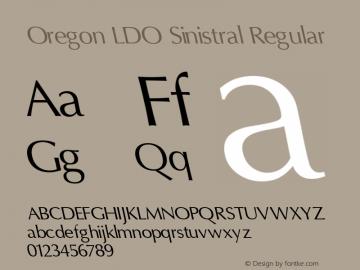 Oregon LDO Sinistral