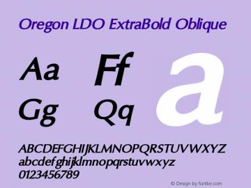 Oregon LDO ExtraBold