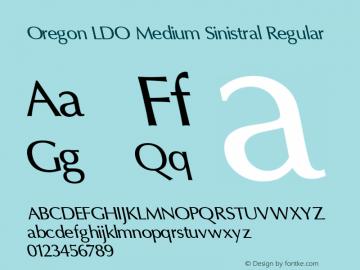 Oregon LDO Medium Sinistral