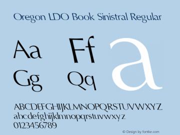 Oregon LDO Book Sinistral