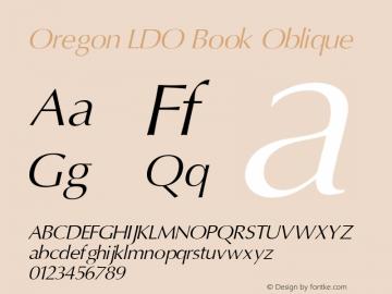 Oregon LDO Book