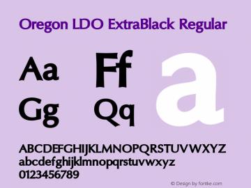 Oregon LDO ExtraBlack