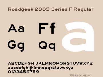 Roadgeek 2005 Series F