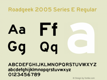 Roadgeek 2005 Series E
