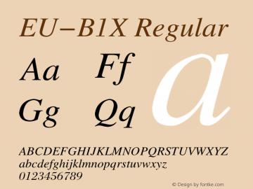 EU-B1X