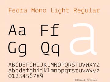 Fedra Mono Light