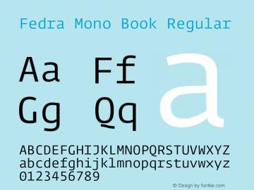 Fedra Mono Book