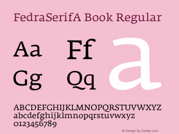FedraSerifA Book