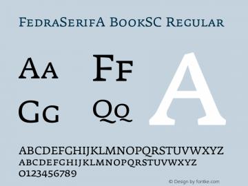 FedraSerifA BookSC