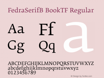 FedraSerifB BookTF