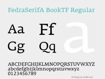 FedraSerifA BookTF