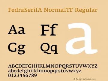 FedraSerifA NormalTF