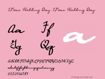 2Peas Wedding Day