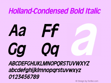 Holland-Condensed