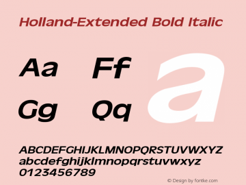 Holland-Extended