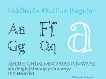 Fiddlestix Outline