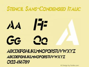 Stencil Sans-Condensed