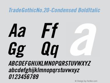 TradeGothicNo.20-Condensed
