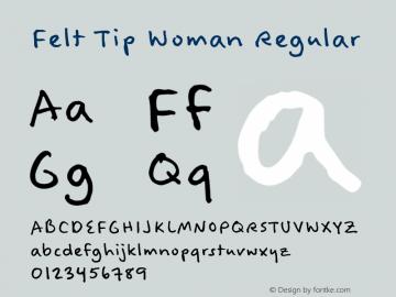 Felt Tip Woman