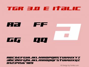 TGR 3.0 E