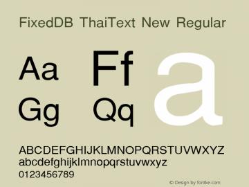 FixedDB ThaiText New