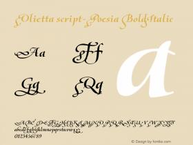 Olietta script-Poesia