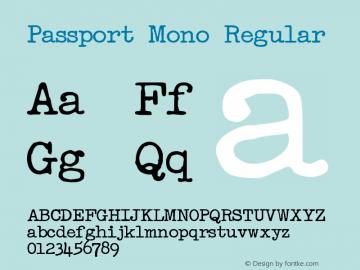Passport Mono