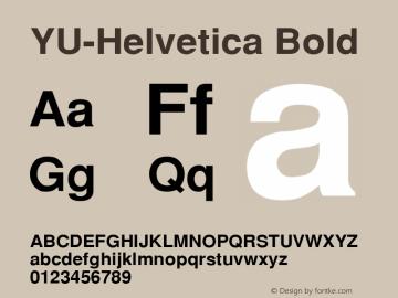 YU-Helvetica