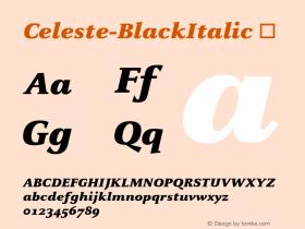 Celeste-BlackItalic