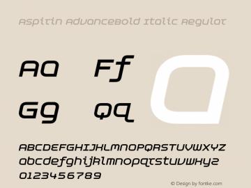 Aspirin AdvanceBold Italic