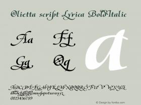Olietta script Lyrica