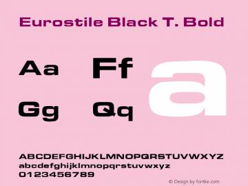 Eurostile Black T.