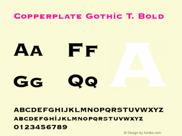 Copperplate Gothic T.