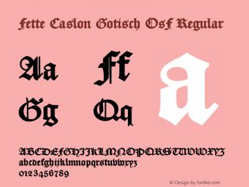 Fette Caslon Gotisch OsF