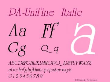 PA-Unifine