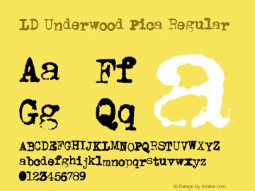 LD Underwood Pica