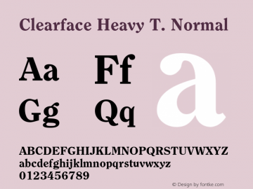 Clearface Heavy T.