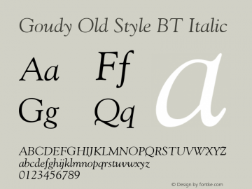 Goudy Old Style BT