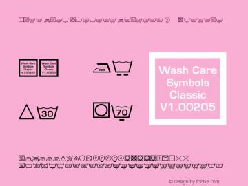 Wash Care Symbols Classic M54