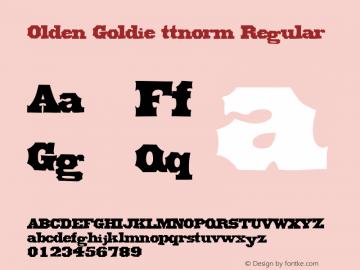 Olden Goldie ttnorm