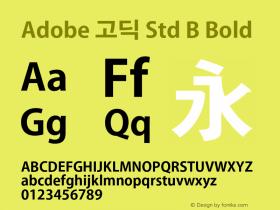 Adobe 고딕 Std B