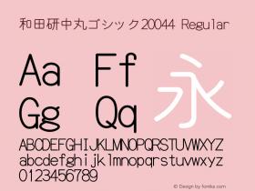 和田研中丸ゴシック20044