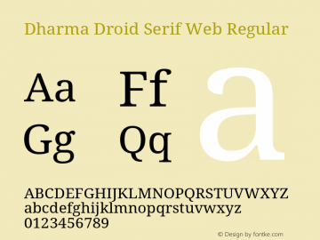 Dharma Droid Serif Web