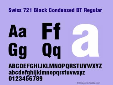 Swiss 721 Black Condensed BT
