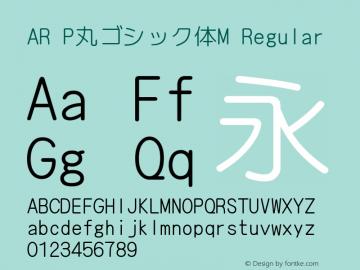 AR P丸ゴシック体M