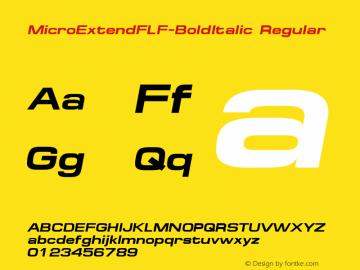MicroExtendFLF-BoldItalic