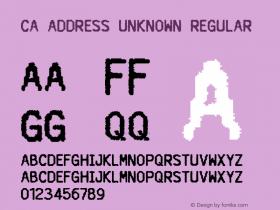 CA Address Unknown