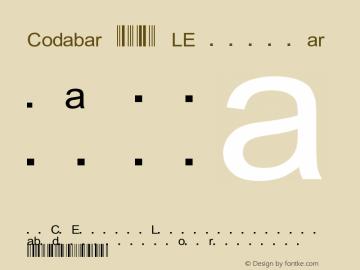 Codabar 123 LE