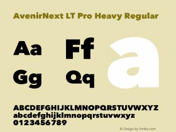 AvenirNext LT Pro Heavy