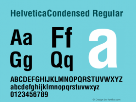 HelveticaCondensed